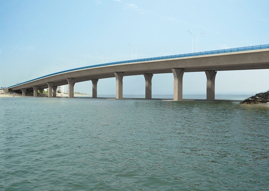 Rendering of the Lesner Bridge, Virginia Beach, Virginia, created by FIGG. (Photo Courtesy of FIGG)