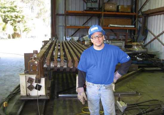 Figure 16 - Fabrication manager Kurt Schoenhals and the XCel at the UC Berkeley test lab.
