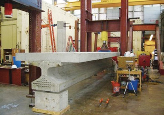 Figure 13 - Tx28 Girder Shear Test at the University of Texas at Austin.