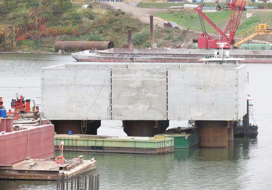 Figure 5 – Pier 3 Precast Segments. (Photo Courtesy of Finley Engineering Group, Inc.)